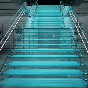 Escalier en verre sur Bordeaux